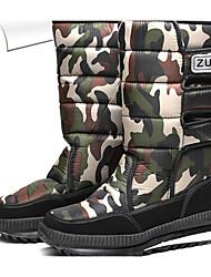 cheap -Men's Snow Boots PU Winter Casual Boots Warm Mid-Calf Boots Light Grey / Black / Rainbow / Outdoor