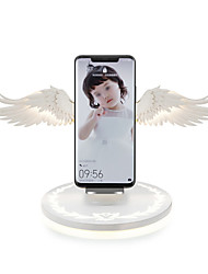 cheap -Wireless Charger USB Charger EU Plug with Cable Angel Wings Qi Wireless Charger Dock 10W 3.0 Fast Charger for iPhone 11/11Pro/11Pro Max/ X/XR/8 Plus Smasung S9 S10 Plus for Hua-wei P30 Xiaomi