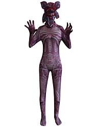cheap -Zombie Halloween Props Adults' Men's Horror Halloween Halloween Halloween Day of the Dead Festival / Holiday Elastane Purple Men's Women's Carnival Costumes 3D Print Curve Printing / Leotard / Onesie