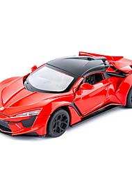 Недорогие -1:32 Игрушечные машинки Транспорт Автомобиль Гоночная машинка Машинки Формулы 1 Гоночная машинка Специально разработанный Мерцание моделирование сплав цинка Ластик / Детские