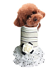 cheap -Dogs Cats Pets Dress Dog Clothes Pink Beige Costume Baby Small Dog Polyster Lace Princess Dresses&Skirts XS S M L XL