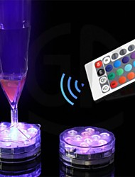 cheap -Remote Control Candle Led Light 1 Leds Color Change Waterproof Electronic Candle Lighting Fish Tank Lamp Festival Home Decor Crafts