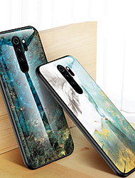 cheap -Marble Tempered Glass Case For Xiaomi Redmi Note 8 Pro Shockproof Back Cover For Redmi Note 8 Silicone Soft TPU Bumper