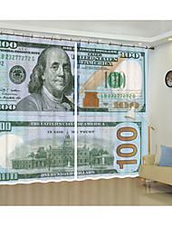 cheap -Decorative Curtain One Dollar Digital Printing 3d Curtain Shading Curtain High Precision Black Silk Cloth High Quality Grade Shading Bedroom Living Room Curtain