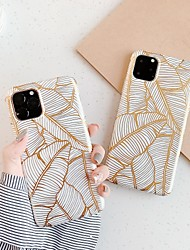 cheap -Case For Apple iPhone 11 / iPhone 11 Pro / iPhone 11 Pro Max Plating / IMD / Pattern Back Cover Tree TPU