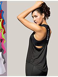 abordables -YUERLIAN Femme Bretelles Croisées Licou Débardeur de Course Running Course / Running Exercice & Fitness Fitness Respirabilité Tenue de sport Sous Vêtement Débardeur Sans Manches Tenues de Sport
