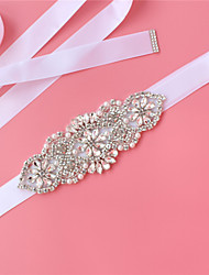 cheap -Satin / Tulle Wedding / Party / Evening Sash With Imitation Pearl / Belt / Crystals / Rhinestones Women's Sashes