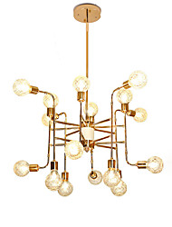 cheap -16 Bulbs 16 Lights Luxury Gold Chandelier Candle-style European Modern Lights for Living Room Dinning Room Shops Caffe LED G9 Bulbs Not Included