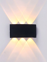 cheap -Waterproof Simple Modern Contemporary Outdoor Wall Lights Outdoor Lights Study Room Office Indoor Aluminum Wall Light IP65 220-240V
