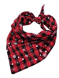 Недорогие -Собаки Шарф для собаки Зима Одежда для собак Оранжевый Зеленый Красный Рождество Костюм Большая собака Полиэстер В снежинку Рождество Косплей XL