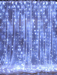cheap -2pcs 1pc LED Curtain Fairy Light 3*1m 3*2m 3*3m Christmas Tree Decoration LED Patio Party Wedding Window Bedroom Outdoor String Lights for New Year Holidays