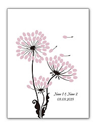cheap -Signature Frames & Platters Waterproof oil canvas Garden Theme / Wedding / Vintage Theme With Patterned