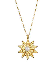 cheap -2020 new fashion jewelry rich Pearl sun charm women's Necklace