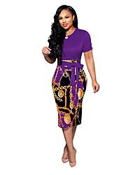 cheap -Women's Wine Purple Dress Elegant Sheath Geometric S M Slim