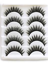 cheap -5Pairs 3D Mink Hair False Eyelashes Natural Thick Long Eye Lashes Wispy Makeup Beauty Extension Tools