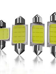 cheap -10pcs/lot car c5w led super Bright White 31mm/36mm/39mm/41mm COB 1.5W Car Festoon LED Bulb Interior Dome Light reading light 12v
