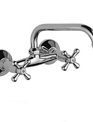 cheap -Kitchen faucet - Two Handles One Hole Electroplated Standard Spout Free Standing Contemporary Kitchen Taps