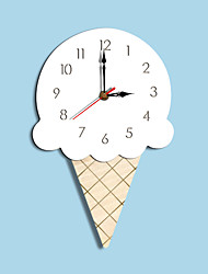 cheap -M.Sarkling Wall Clock Cartoon Acrylic Ice Cream Colorful Silent Personality Kitchen Unique Food