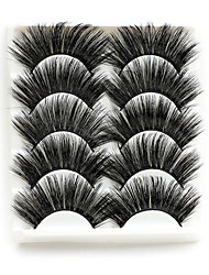 cheap -5 Pairs Mink Hair Lashes Volume Eyelashes Wholesale Price Performing Stage Makeup Eye Lashes Mink Eyelashes Bulk