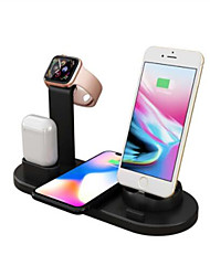 cheap -10W Fast Wireless Charger 360 Angle Rotating Desktop IPhone Micro Usb Type-C Triple Charger for Airpods iPhone Samsung Huawei Xiaomi and Others