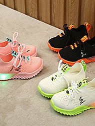 cheap -Boys' / Girls' LED / Comfort / LED Shoes Mesh Trainers / Athletic Shoes Toddler(9m-4ys) / Little Kids(4-7ys) Luminous White / Black / Pink Spring / Fall / Party & Evening / Rubber