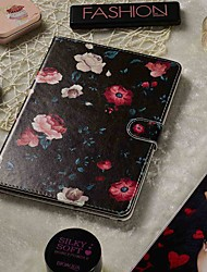 cheap -Adjustable Case For Apple / Samsung Galaxy / Huawei / Sony Xperi / Acer / Asus / Amazon / Lenovo Universal Wallet / Card Holder / with Stand Full Body Cases Black Flower PU Leather 9.4-10.5 Inch