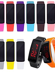 Недорогие -электронные часы Цифровой Pезина Светодиодная лампа Цифровой На каждый день - Черный Один год Срок службы батареи