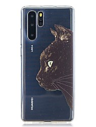 cheap -Case For Huawei Huawei P30 / Huawei P30 Pro / Huawei P30 Lite Pattern Back Cover Cat TPU