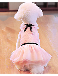 cheap -Dogs Cats Pets Dress Dog Clothes White Pink Costume Baby Small Dog Polyster Princess Wedding S M L XL XXL