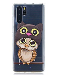 cheap -Case For Huawei P30 / Huawei P30 Pro / Huawei P30 Lite Pattern Back Cover Owl TPU for Huawei Y6(2019) / Y7(2019)