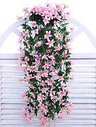 cheap -Artificial Flowers 1 Branch Wall-Mounted Modern Contemporary Pastoral Style Lilies Wall Flower