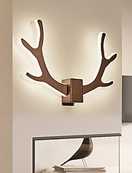 cheap -LED Wall Light  Shape of Antlers Living Room Bedroom Metal White /Coffee Lampshade Warm White / White 12W