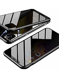 cheap -Magnetic Double Sided Case For Apple iPhone 11 / iPhone 11 Pro / iPhone 11 Pro Max Magnetic Full Body Cases Solid Colored Tempered Glass