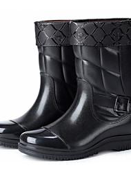 Недорогие -Муж. Резиновые сапоги Синтетика Зима Ботинки Водостойкий Сапоги до середины икры Черный / на открытом воздухе