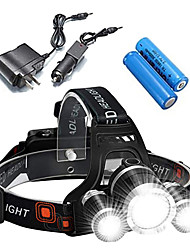 cheap -ANOWL Headlamps Headlight Rechargeable 2400 lm LED 3 Emitters 4 Mode with Batteries and Charger Rechargeable Portable Professional Impact Resistant Camping / Hiking / Caving Everyday Use Diving