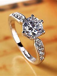Недорогие -Кольцо из высококачественного хрусталя из натурального золота, чистого белого золота, покрытое медью, кольцо из белого золота, 2-каратное кольцо с цирконом