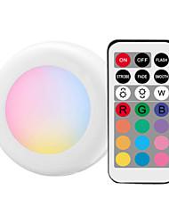 Недорогие -1 шт. Из светодиодов под кабинет свет rgb 13 цветов затемняемый ночник шайба лестница прихожая кухонный шкаф шкаф беспроводной