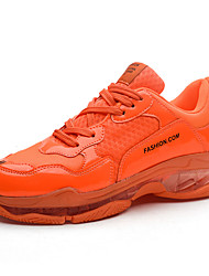 cheap -Men's Comfort Shoes PU Fall Sporty Athletic Shoes Running Shoes Non-slipping Orange / Yellow / Green