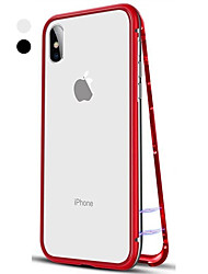 Недорогие -Кейс для Назначение Apple iPhone XS / iPhone XR / iPhone XS Max Флип / Прозрачный Чехол Однотонный Твердый Закаленное стекло