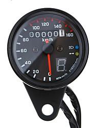 cheap -Universal Motorcycle LED Odometer Speedometer Speedo Tachometer Gauge