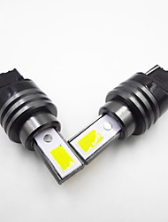 Недорогие -2шт t15w16w / t20 (7440 7443) / 1156 ba15s автомобильные лампочки 10 Вт cob canbus без ошибок дневные ходовые огни / стоп-сигналы / фонари заднего хода (резервные) для универсального автомобиля