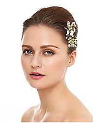 cheap -Crystal / Imitation Pearl / Alloy Hair Pin with Crystal / Imitation Pearl 1 Piece Wedding Headpiece