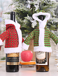 cheap -Christmas Sweater Bottle Set Wine Bottle Dress Old Man Dress Bottle Dress Up