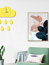 cheap -M.Sparkling Wall Clock Cartoon Acrylic Flaky Clouds Colorful Creative Unique Wall Watch Kitchen Children Room Living Room