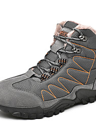 cheap -Men's Suede Shoes Suede / Polyester Winter Sporty / Casual Boots Hiking Shoes / Walking Shoes Warm Black / Blue / Gray / Outdoor