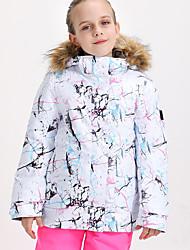 cheap -Boys' Girls' Ski Jacket Skiing Camping / Hiking Winter Sports Waterproof Warm Wearable Polyster Tracksuit Ski Wear
