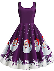 cheap -Audrey Hepburn Dress Adults' Women's Retro Vintage Christmas Christmas Festival / Holiday Polyester Purple Women's Carnival Costumes