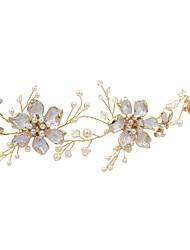 cheap -Crystal / Imitation Pearl / Alloy Headbands / Headdress with Imitation Pearl / Glitter / Crystal / Rhinestone 1pc Wedding / Party / Evening Headpiece