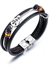 cheap -Men's Bracelet Geometrical Guitar Fashion Titanium Steel Bracelet Jewelry Black For Daily Work