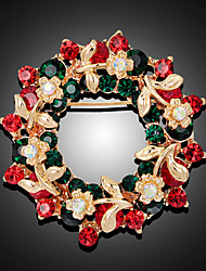 cheap -Women's Brooches 3D Flower Fashion Gold Plated Brooch Jewelry Rainbow For Christmas Party Festival